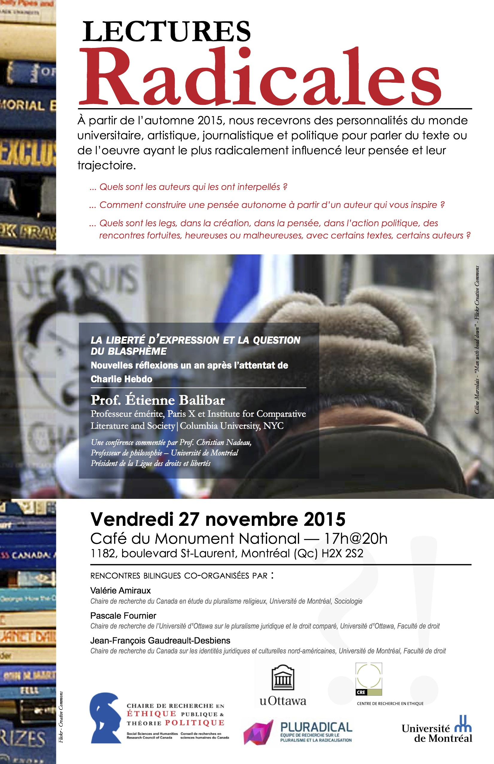 Affiche Lecture radicale Balibar